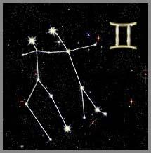 расположение звезд созвездия близнецы