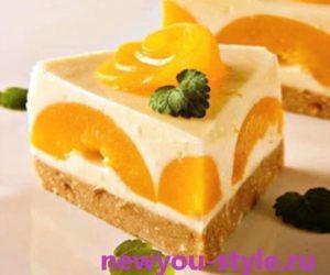 торт-творожно-персиковый