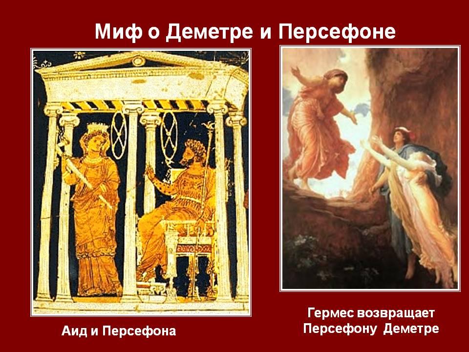 миф о Деметре и Персефоне