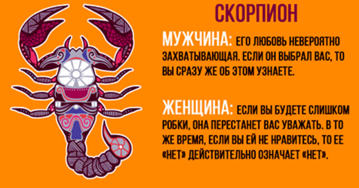 мужчина и женщина скорпион