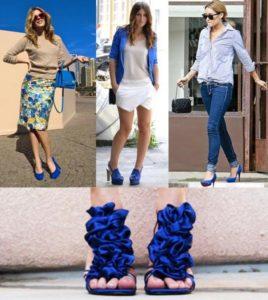 что носить под синюю обувь