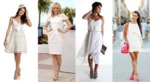 какие туфли носить с белым платьем