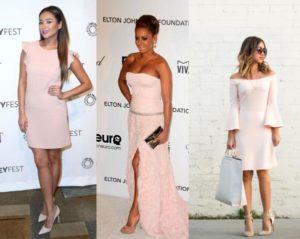 Какую обувь можно носить с бледно-розовым платьем?
