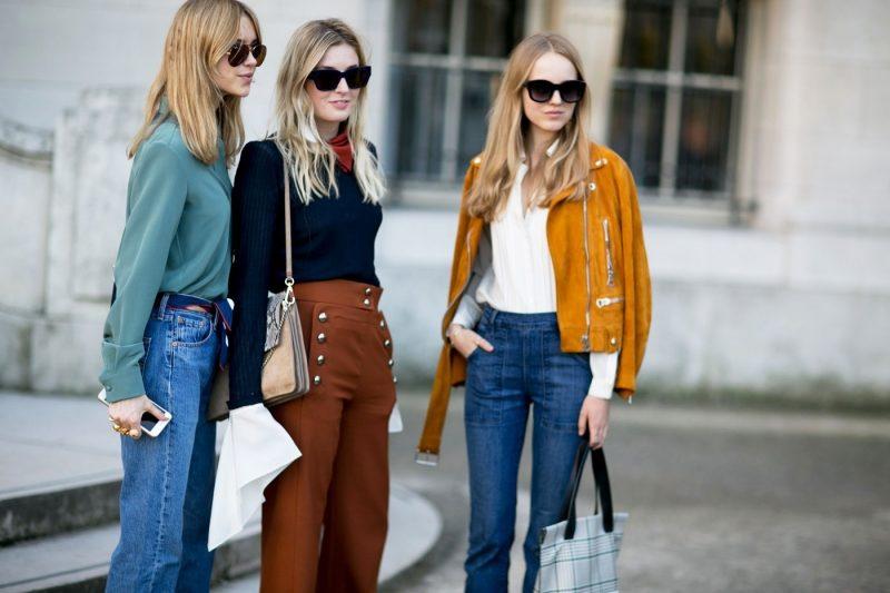 уличная мода джинсы и брюки