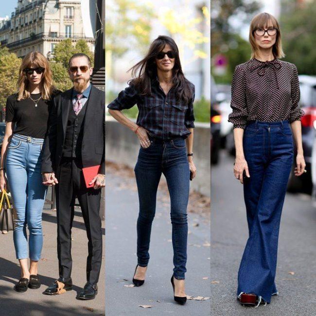 уличный стиль джинсы и рубашки