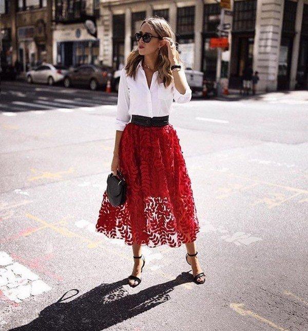 уличный стиль платья и юбки