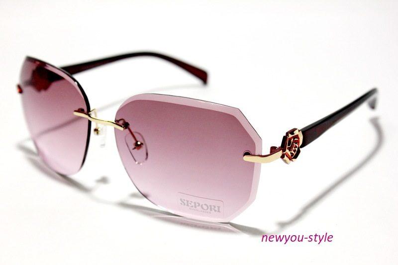 безоправные очки от солнца