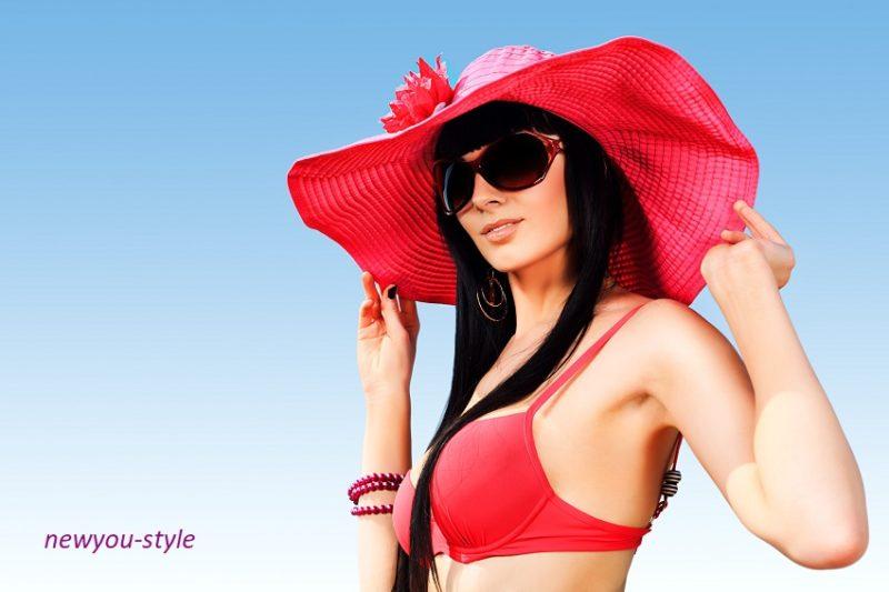 пляжная шляпка
