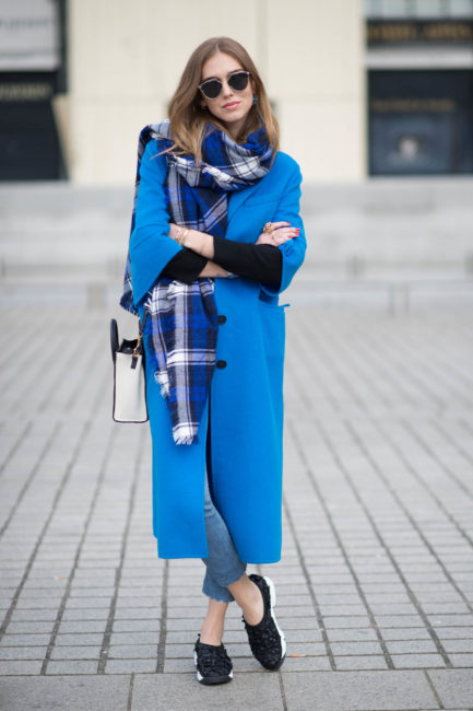 стрит стайл пальто