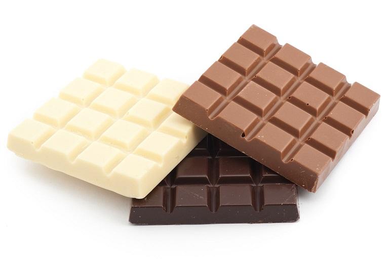 белый темный и молочный шоколад
