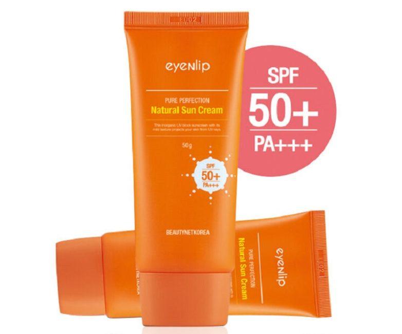 солнцезащитный корейский крем для лица